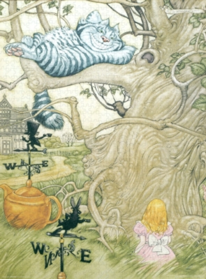 Alice In Wonderland, Cheshire Cat - 1000pc Jigsaw Puzzle by Culturenik