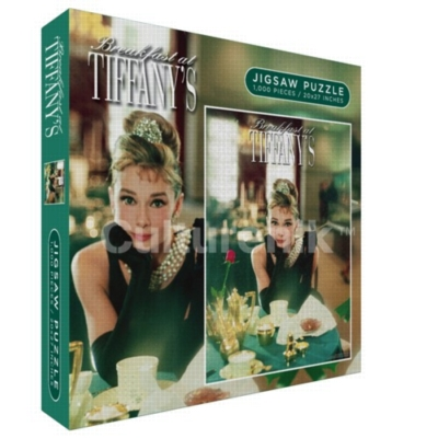 Breakfast At Tiffany's, Audrey Hepburn - 1000pc Jigsaw Puzzle by Culturenik
