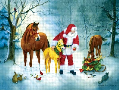 A Christmas Gathering - 500pc Jigsaw Puzzle by Sunsout