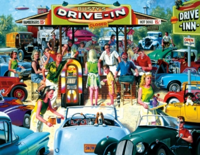 Rusty's Diner - 1000pc Large Format Jigsaw Puzzle by Sunsout