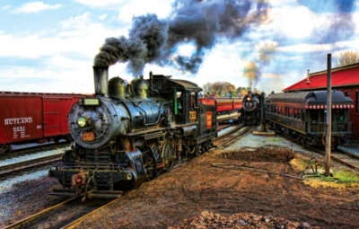 At The Trainyard - 1000pc Jigsaw Puzzle by Sunsout