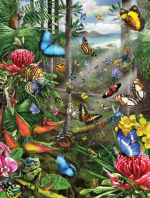 Butterfly Tropics - 500pc Jigsaw Puzzle by Sunsout