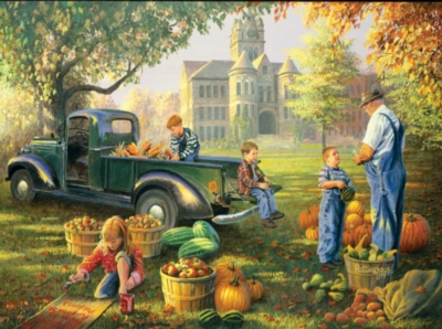 Little Farmers Market - 1000pc Jigsaw Puzzle by Sunsout