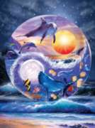 Yin & Yang Dolphins - 1000pc Jigsaw Puzzle by Sunsout