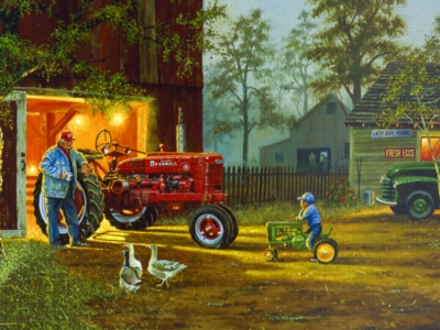 Grandpa's Farm - 750pc Jigsaw Puzzle by Serendipity