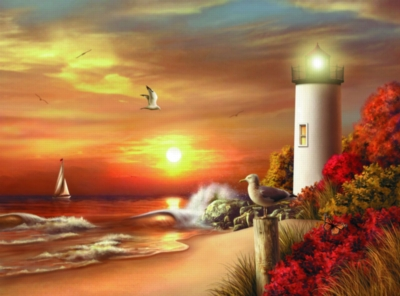 Guiding Lights - 1000pc Jigsaw Puzzle by Serendipity