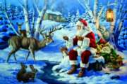 Snack Time With Santa - 1000pc Jigsaw Puzzle by Serendipity
