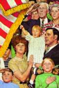 Norman Rockwell: Salute The Flag - 500pc Jigsaw Puzzle in a Tin by Serendipity