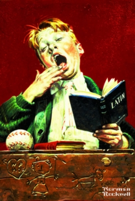 Norman Rockwell: The Sleepy Scholar - 500pc Jigsaw Puzzle in a Tin by Serendipity