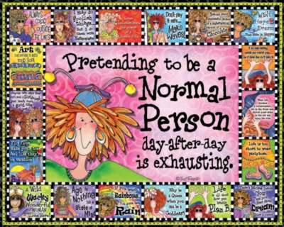 Pretending to Be Normal - 1000pc Jigsaw Puzzle by White Mountain