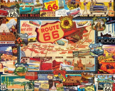 Route 66 - 1000pc Jigsaw Puzzle by White Mountain