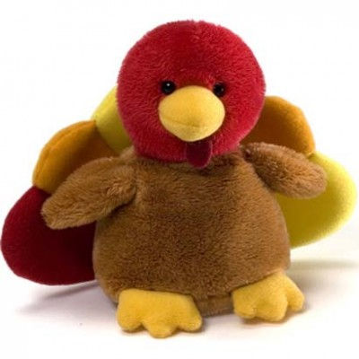 "Happy Harvest Gobbles - 4.5"" Turkey by Gund"
