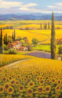 Sunflower Field - 550pc Jigsaw Puzzle by Sunsout