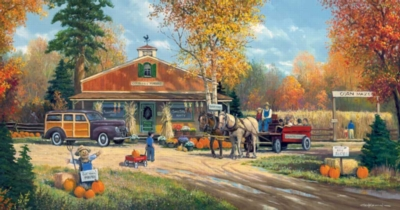Autumn Tradition - 300pc Large Format Jigsaw Puzzle by Sunsout