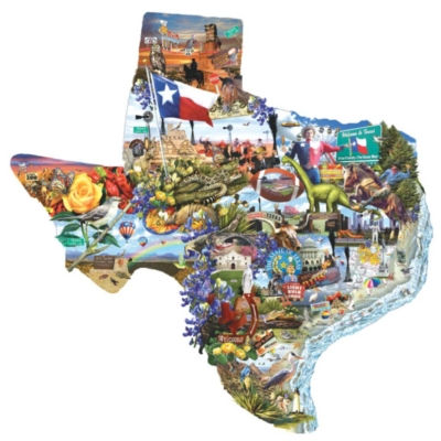 Welcome to Texas - 1000pc Shaped Jigsaw Puzzle by Sunsout