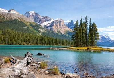 Maligne Lake, Jasper National Park, Canada - 1000pc Jigsaw Puzzle by Castorland