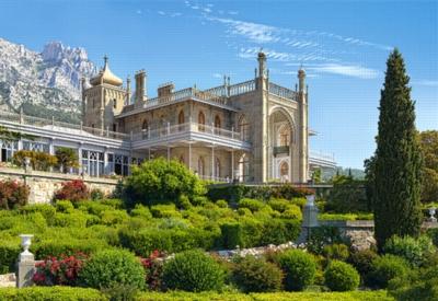 Jigsaw Puzzles - Vorontsovsky Palace, Crimea