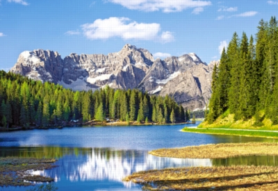 Hard Jigsaw Puzzles - Misurina Lake, Italy