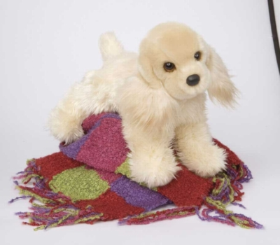 White Chocolate Cocker Spaniel - 12'' Dog By Douglas Cuddle Toys