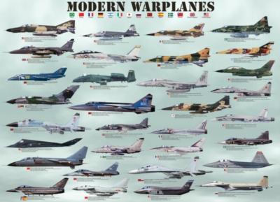 Eurographics Jigsaw Puzzles - Modern Warplanes