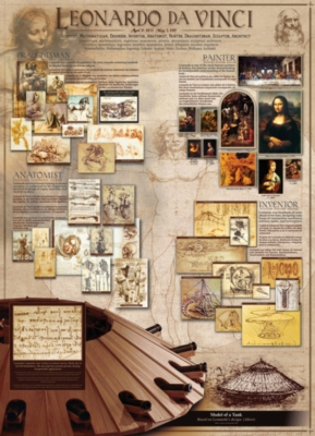 Genius of Leonardo Da Vinci - 1000pc Jigsaw Puzzle by Eurographics