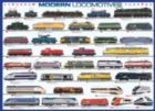 Modern Locomotives - 1000pc Jigsaw Puzzle by Eurographics