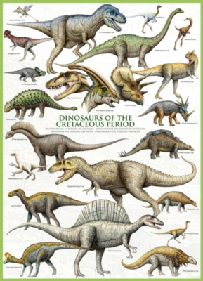 Dinosaurs Cretaceous - 1000pc Jigsaw Puzzle by Eurographics