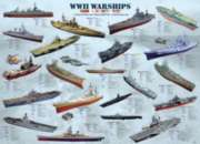 WWII War Ships - 1000pc Jigsaw Puzzle by Eurographics