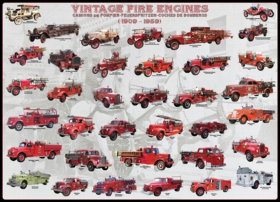 Eurographics Jigsaw Puzzles - Vintage Fire Engines