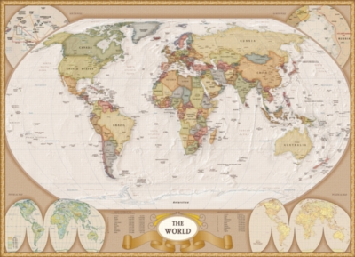 Map of the World - 1000pc Jigsaw Puzzle by Eurographics