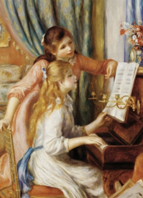 Girls at the Piano - 1000pc Jigsaw Puzzle by Eurographics