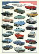 American Cars of the Fifties - 1000pc Jigsaw Puzzle by Eurographics