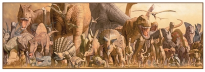 Dinosaurs - 750pc Panoramic Puzzle For Kids by Eurographics