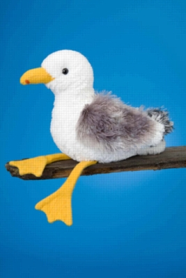 "Seymour Seagull - 9"" Bird By Douglas Cuddle Toy"
