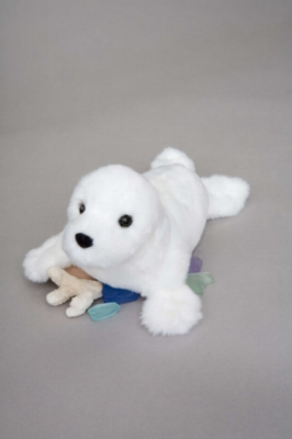 "Snowflake White Seal - 9"" Seal By Douglas Cuddle Toy"