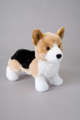 "Shorty Tri-Color Corgi - 8"" Dog By Douglas Cuddle Toy"
