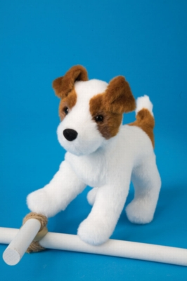 "Feisty Jack Russell - 7"" Dog By Douglas Cuddle Toy"