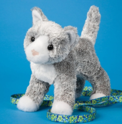 "Scatter Gray Cat - 6.5"" Cat By Douglas Cuddle Toy"