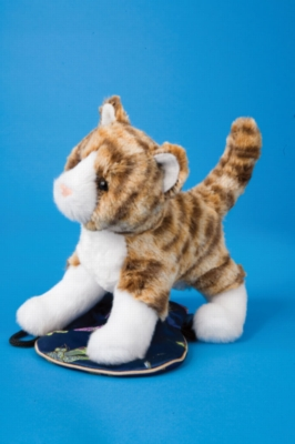 "Sadie Tiger Stripe Cat - 7"" Cat By Douglas Cuddle Toy"