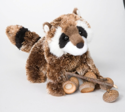 "Patch Raccoon - 7"" Raccoon By Douglas Cuddle Toy"