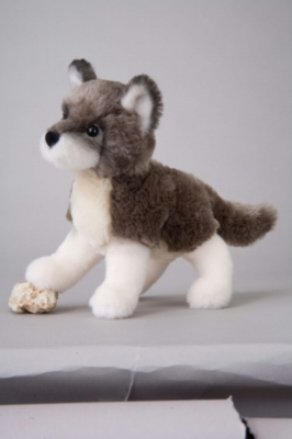 "Ashes Wolf - 8"" Wolf By Douglas Cuddle Toy"