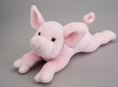 Rouge Pig - 9&quot; Pig By Douglas Cuddle Toy