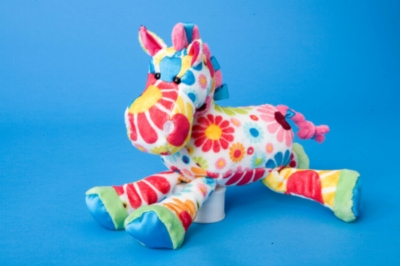 "Greta White Flower Horse - 10"" Horse By Douglas Cuddle Toy"