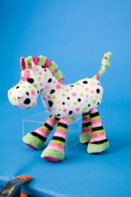 "Lela Hot Pink Fizz Horse - 10"" Horse By Douglas Cuddle Toy"