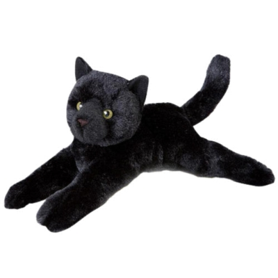 "Tug Black Cat - 14"" Cat By Douglas Cuddle Toy"