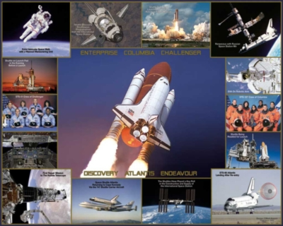 Space Shuttle - 1000pc Jigsaw Puzzle by White Mountain