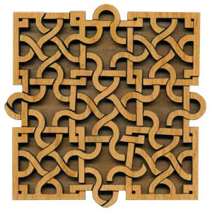 Paradigm Puzzles: Interlace Square - Volumetric Pattern Puzzle