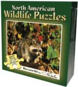 Raccoon Kit - 550pc Jigsaw Puzzle by Channel Craft