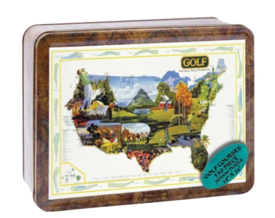 Golf of America - 550pc Tin Boxed Jigsaw Puzzle by Channel Craft