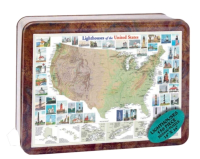 Lighthouses of the United States - 550pc Tin Boxed Jigsaw Puzzle by Channel Craft